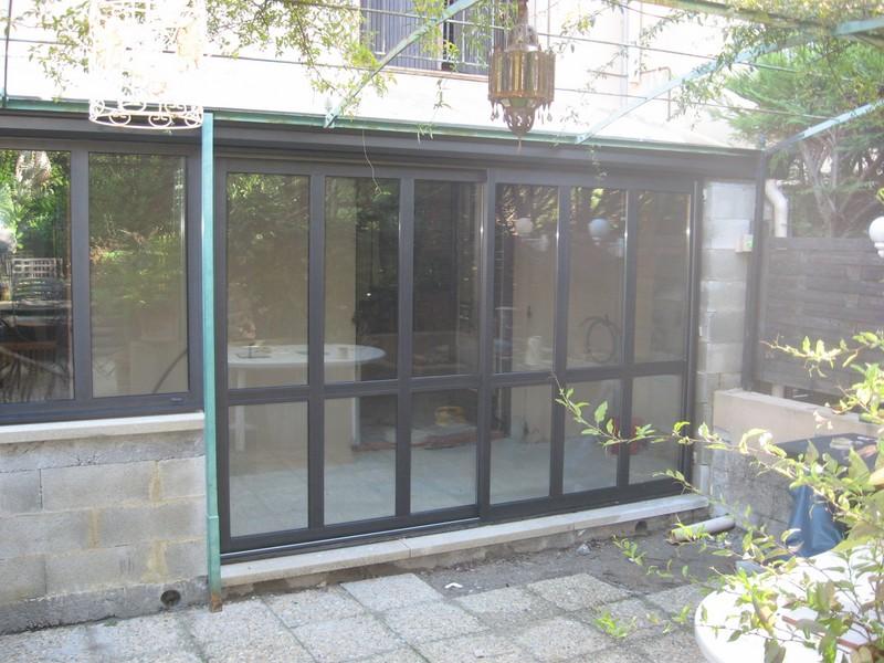 fabrication et pose de baies coulissantes en aluminium fabricant menuiseries faucon. Black Bedroom Furniture Sets. Home Design Ideas